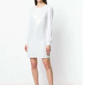 Michael Michael Kors sequined shift dress in White